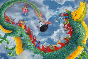 Dragon dans ciel