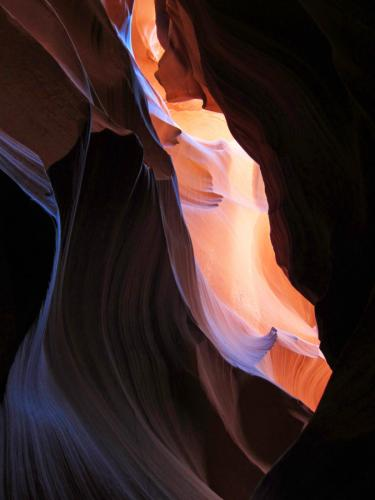 L'oeuvre Antelope Canyon