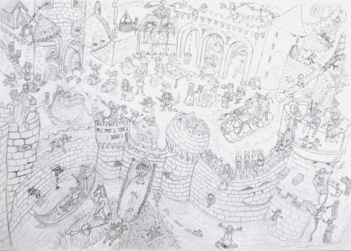 Medieval Festiva Complete Sketch