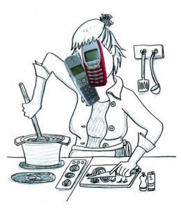 Parle au télépone