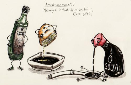 Recipe drawing Seasoning